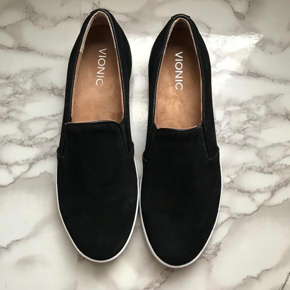 f31ca4e27ce6 Vionic Splendid Black Midi Slip On Sneaker Shoe. M 5c6f66d6c9bf503366399798